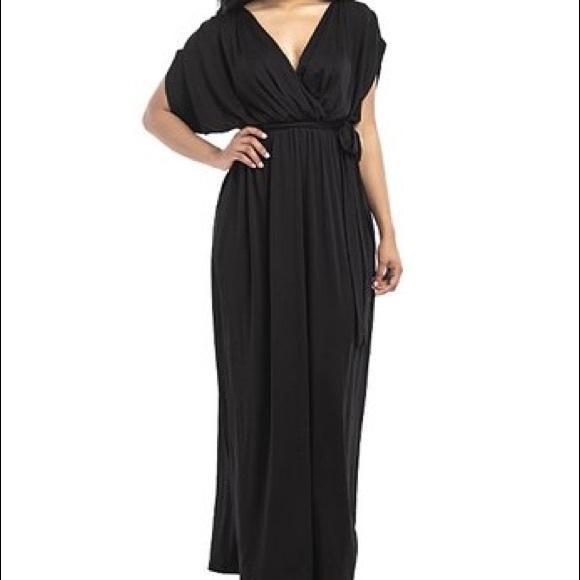 51cee5ab8c Fee et Rit Dresses | Black Tie Waist Maxi Dress | Poshmark